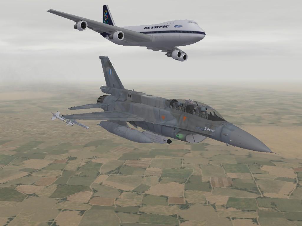 F16 B747