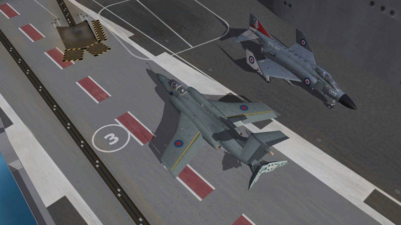 Buccaneer and F-4K on Ark Royal