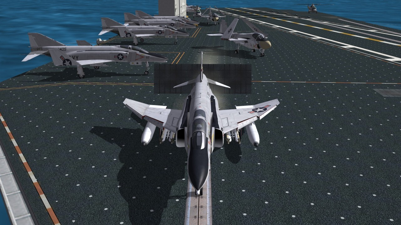 F-4N on Carrier