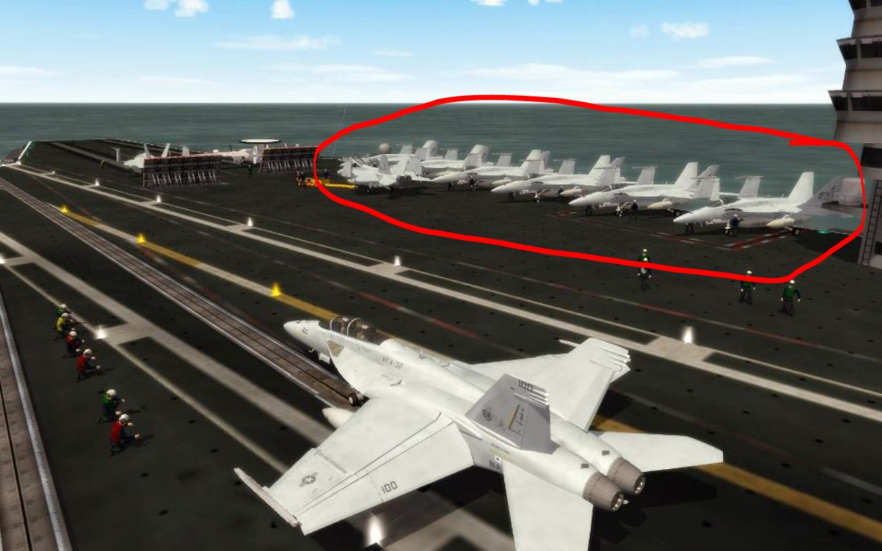 How To Add FA\18 TO aircraft carrier deck ? - Thirdwire
