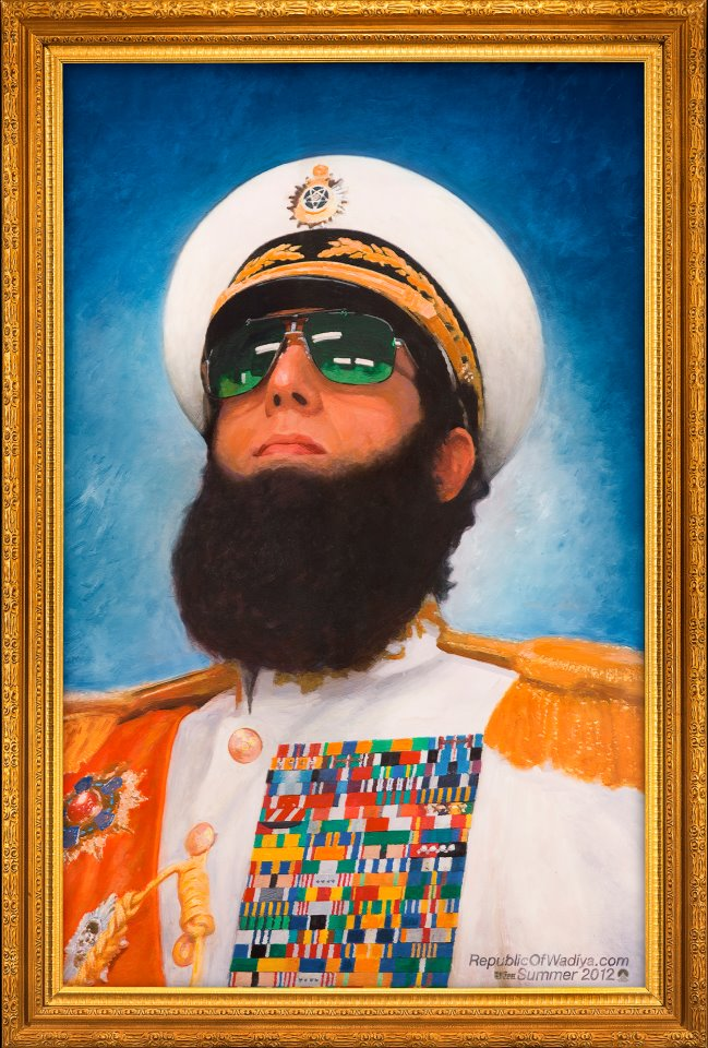 HIS EXCELLENCY ADMIRAL GENERAL ALADEEN - SUPREME LEADER, ALL TRIUMPHANT GENERAL AND CHIEF OPTHAMOLOGIST OF PEOPLE'S REPUBLIC OF WADIYA.jpg