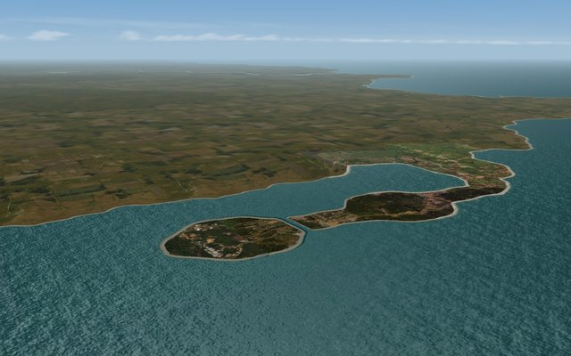 Island long shot