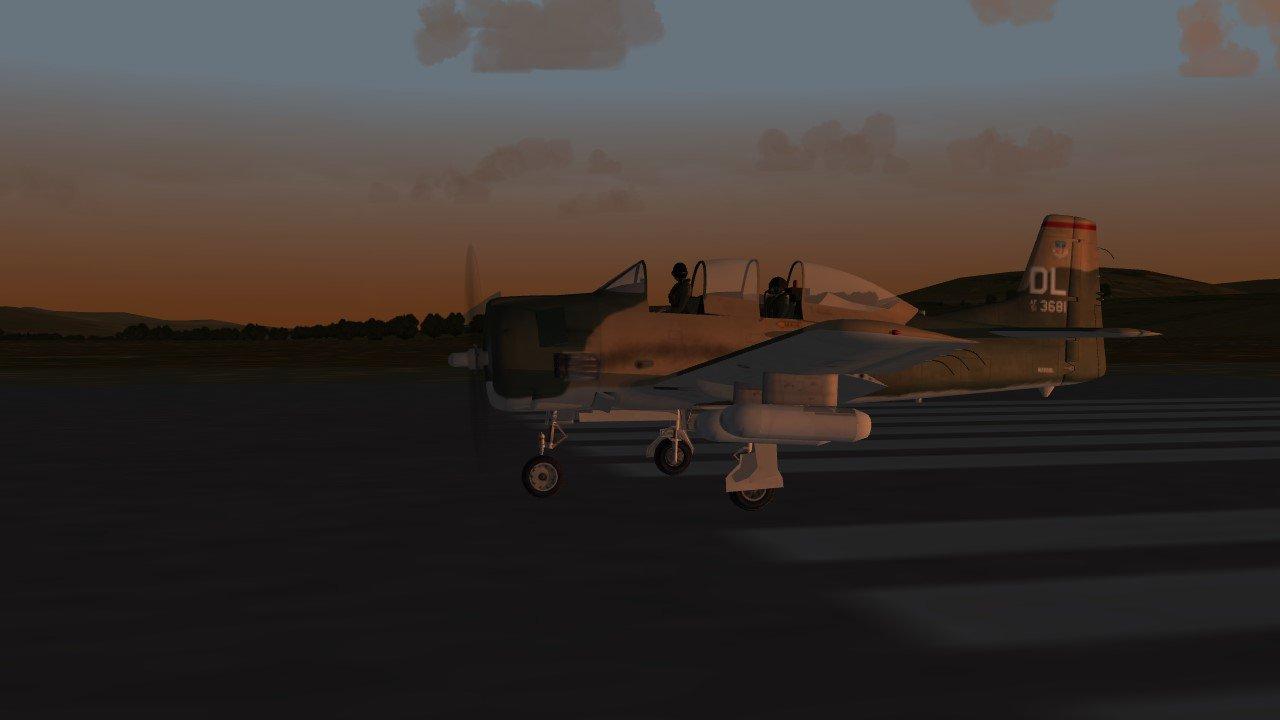 T-28 evening takeoff.JPG