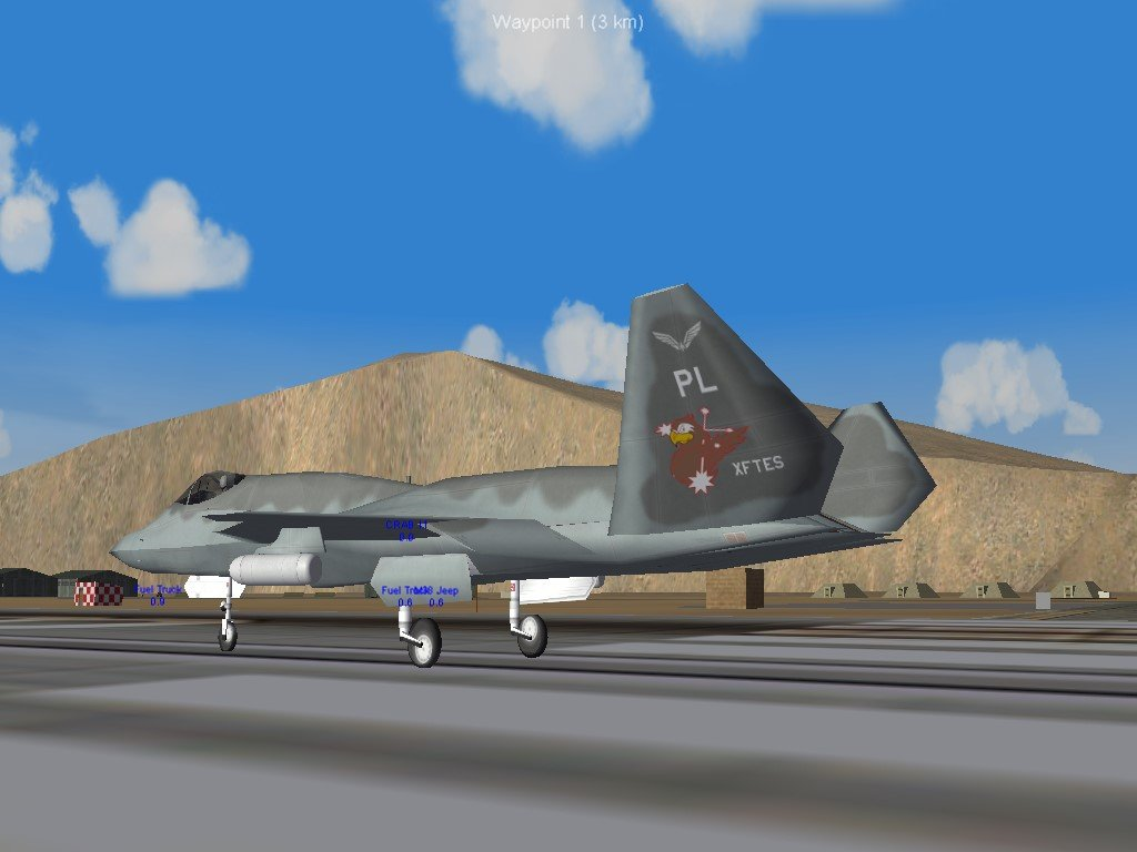 Falco Squadron close up on tail