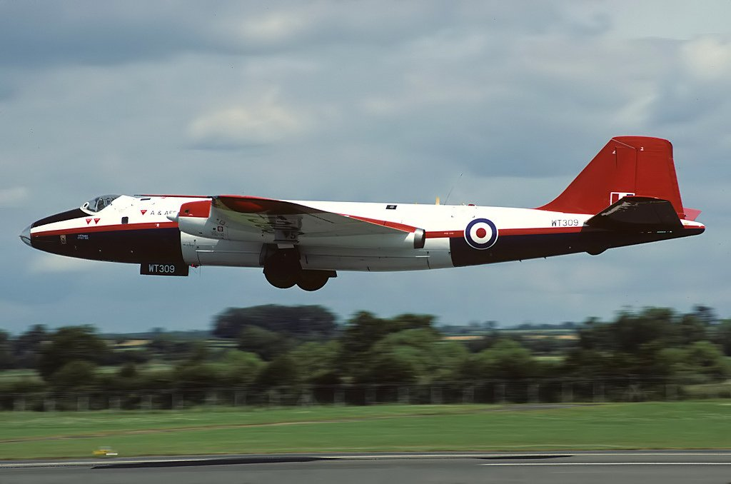 Airframes I've worked on over the years: Canberra WT309