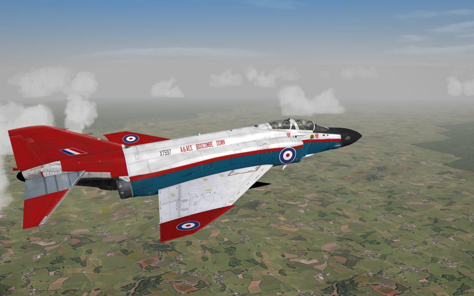 Phantom FG1, XT597 of A (Fast Jet Test) Squadron, A&AEE Boscombe Down, Wiltshire