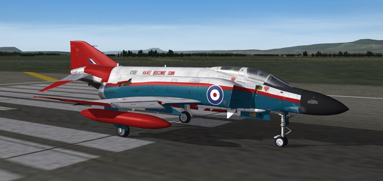 Phantom FG1 XT597 A Sqn, A&AEE Boscombe Down on TW F4K Model