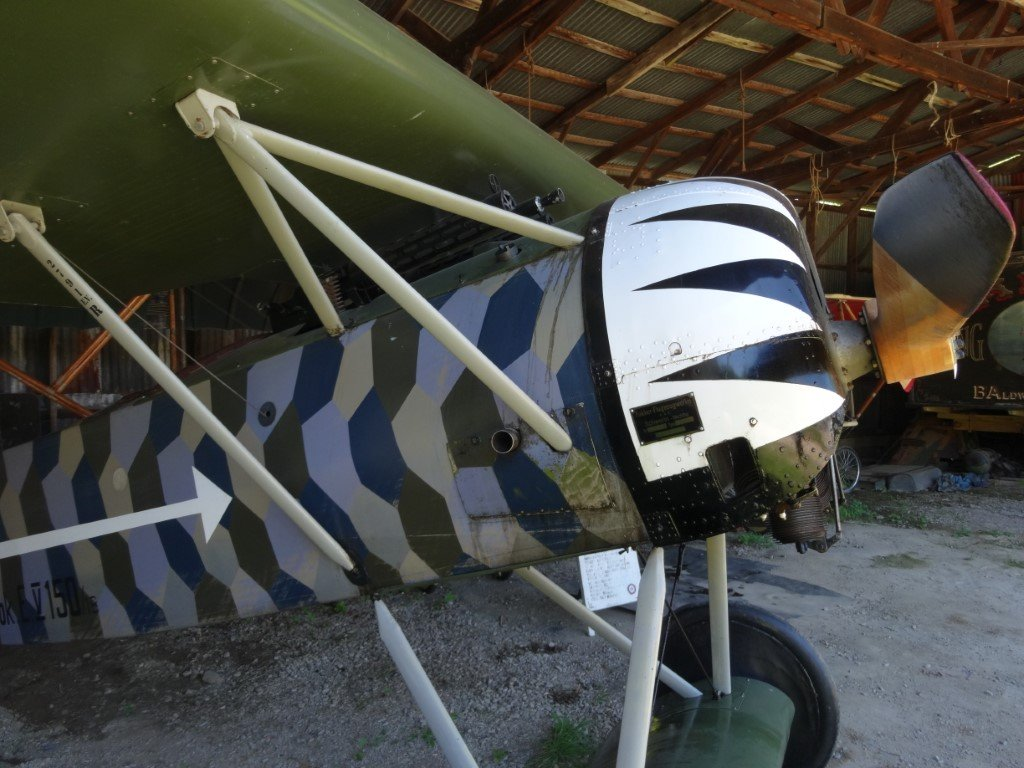 Detail close-ups of Fokker DVIII, Caudron G.3, SPAD VII at Old Rhinebeck 8 Jul 18.