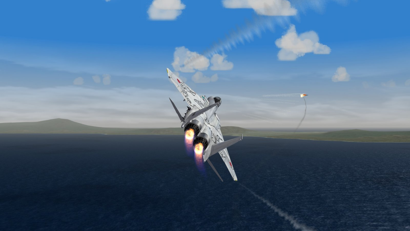 F-15J Breaking and Firing Missile