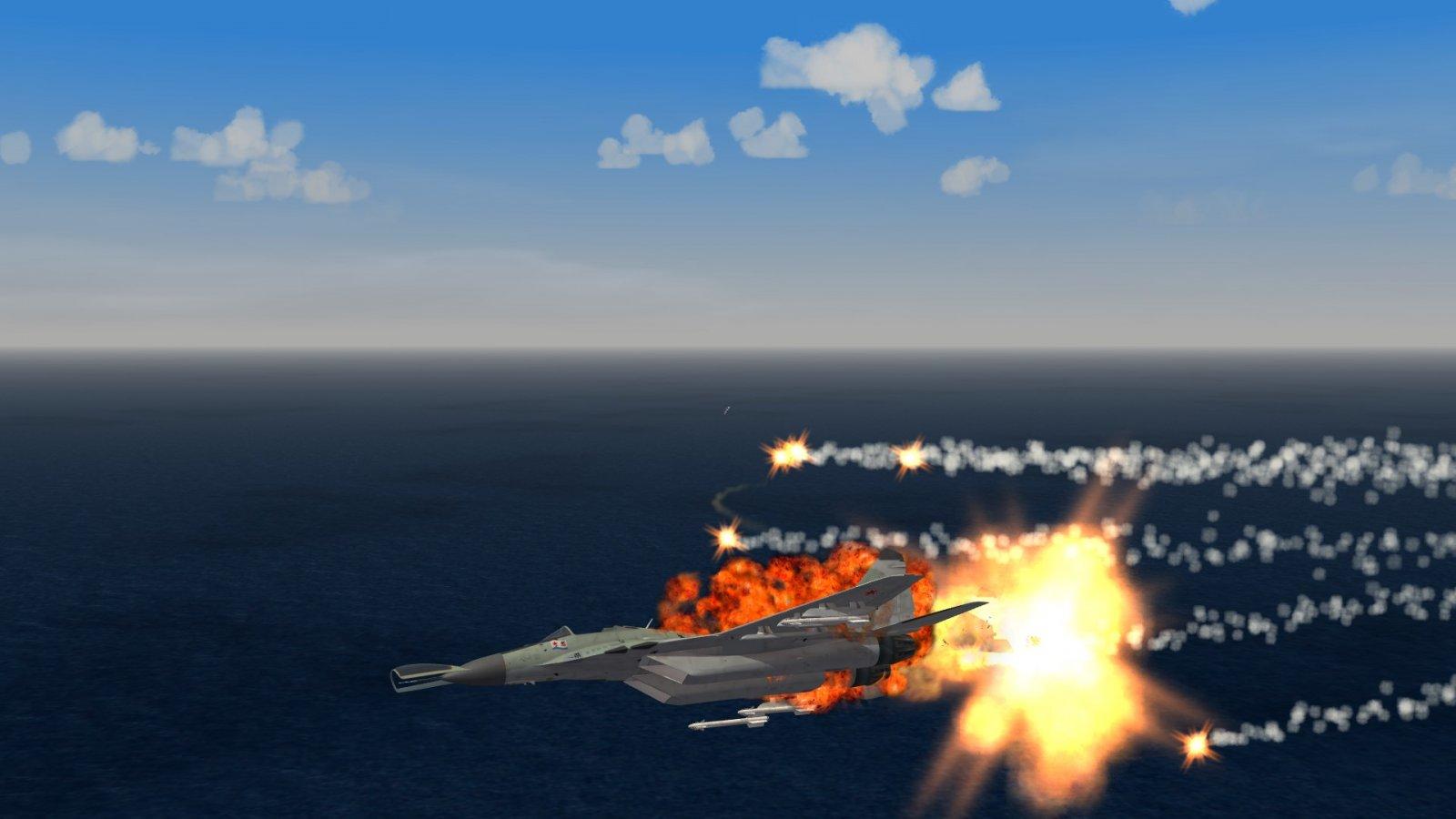 MiG-29 blowing up...