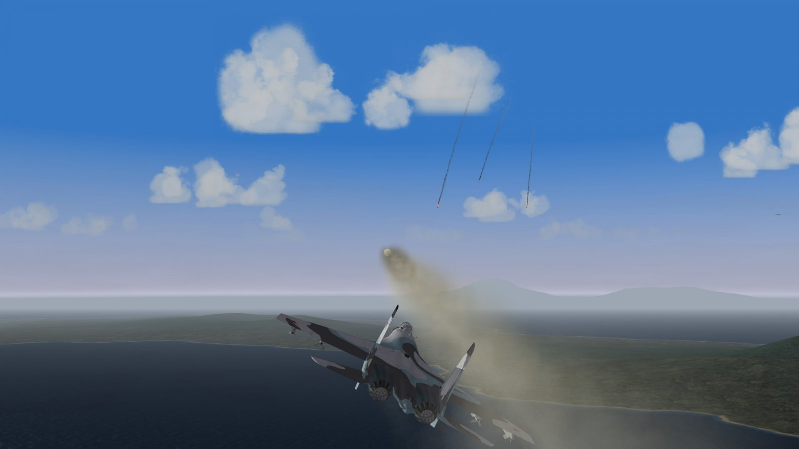 Rear Platoon Flanker Firing Thru the Falling Flankers