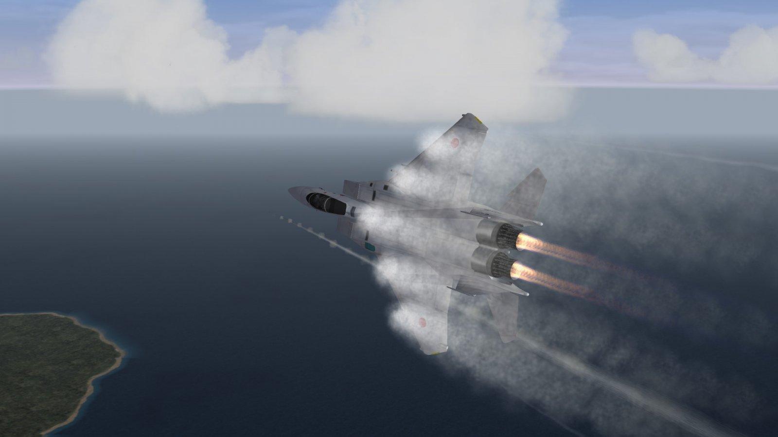 High Alpha Action Over the Kurils
