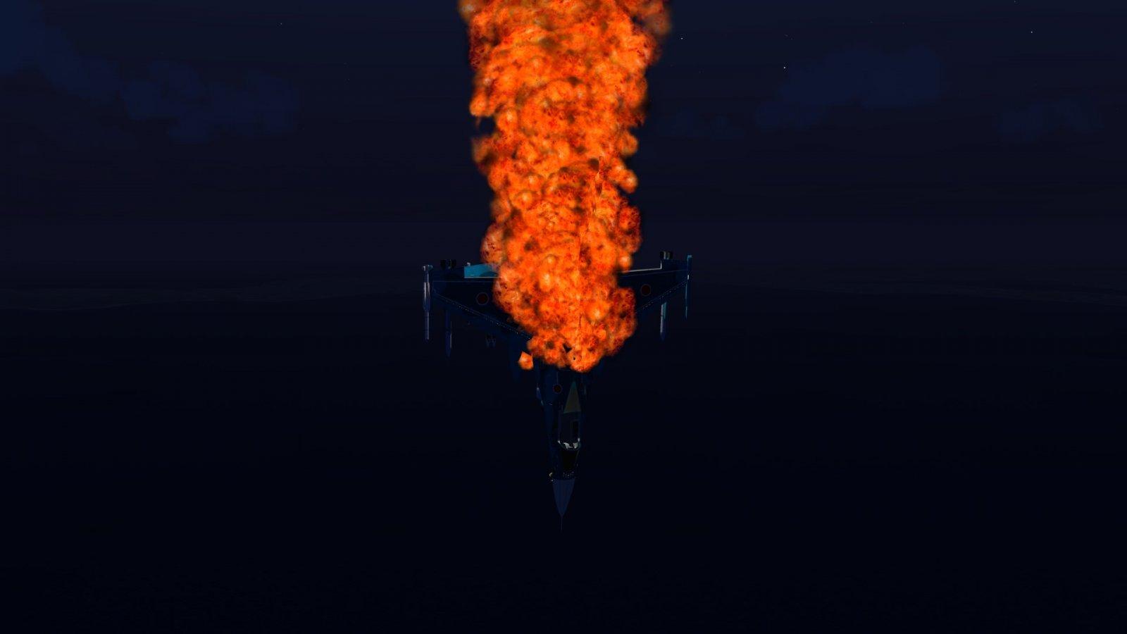 Burning F-2A