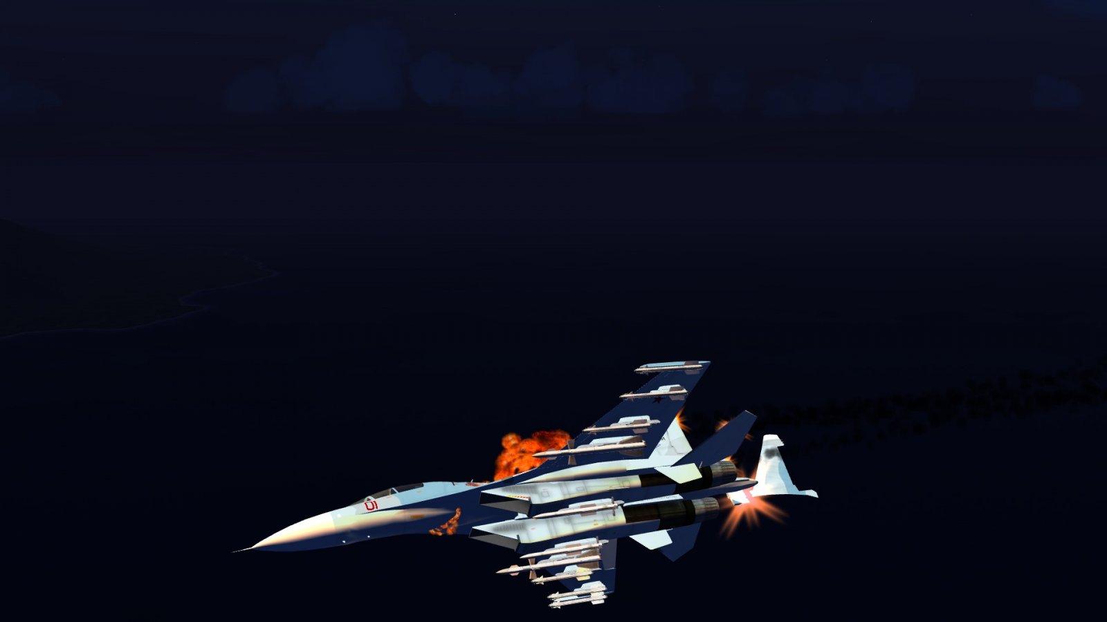 Su-30 Starting to Disintegrate