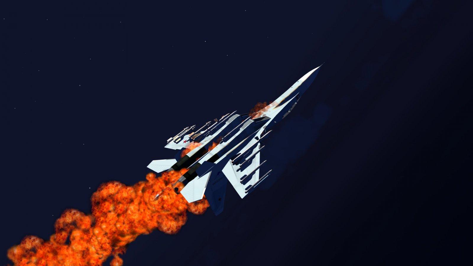 Su-30 Aflame