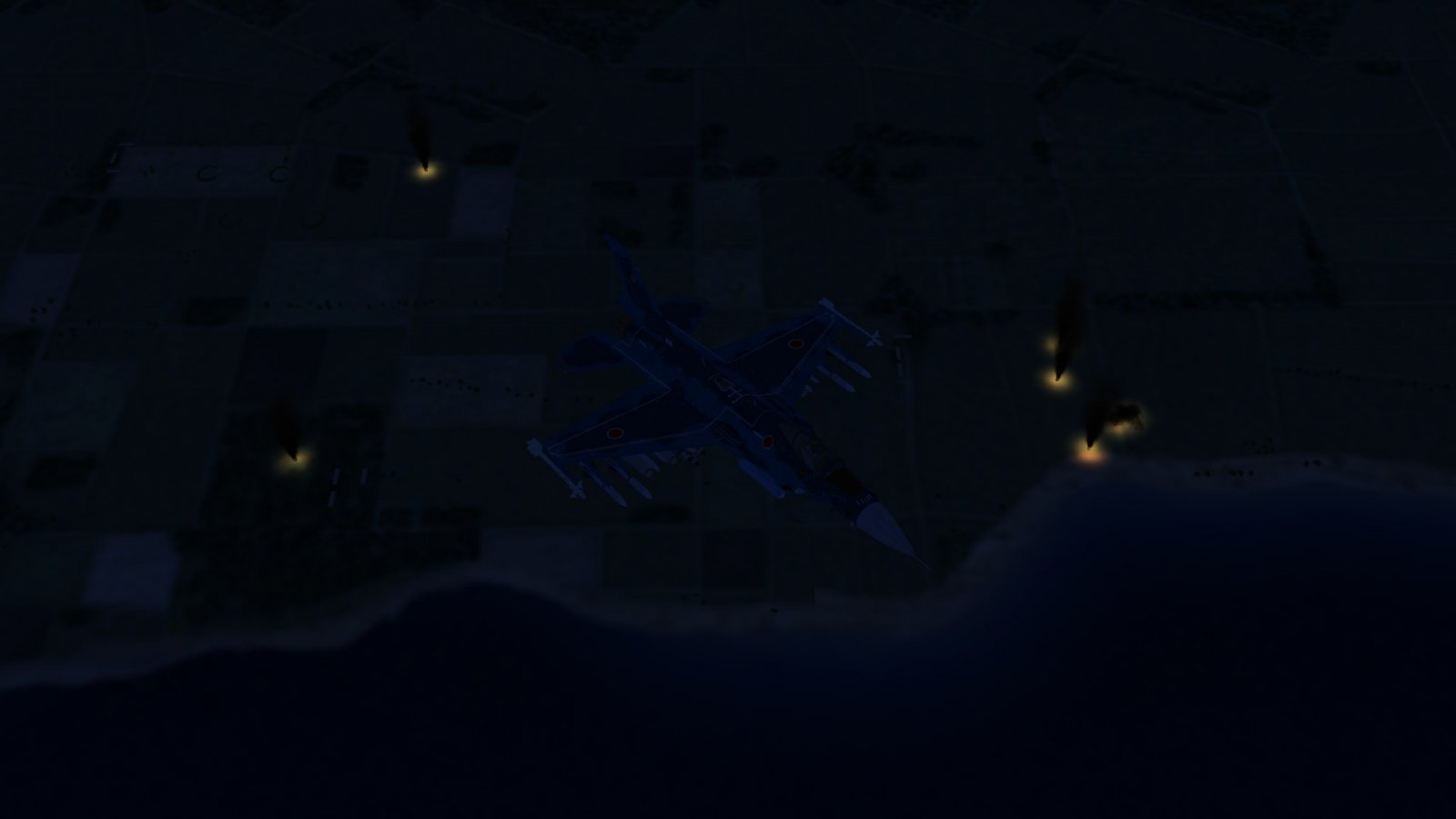 Flying Over Exploding Kuril Air Defenses