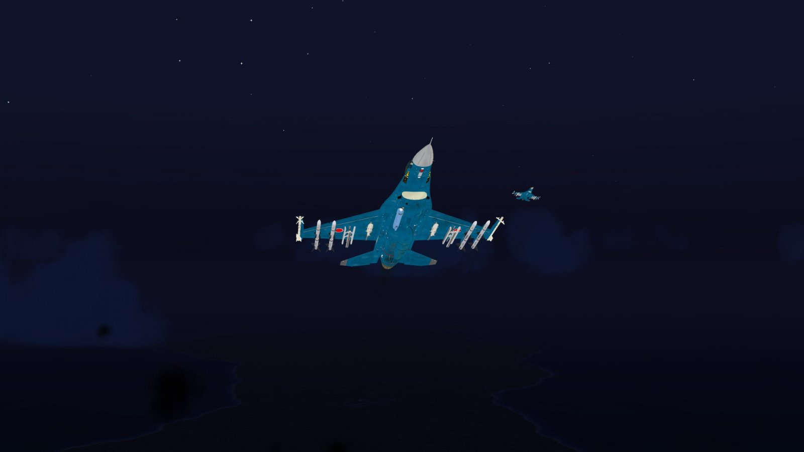 Flak Lighting Up the F-2A