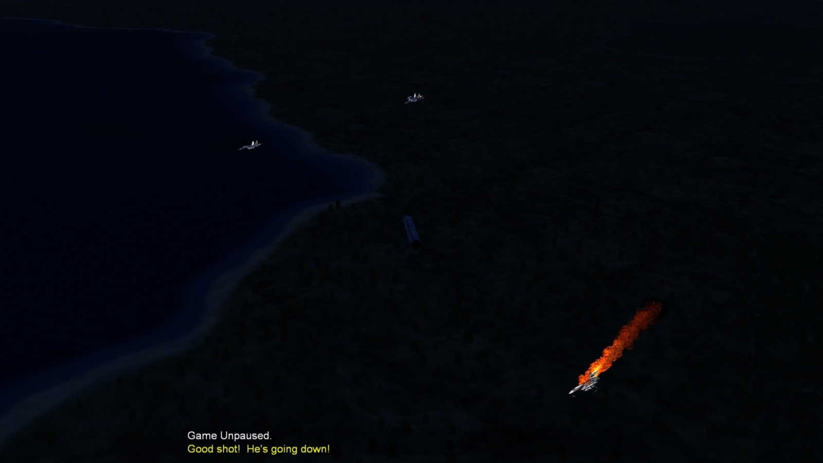 A Missile's View As A Su-27 Explodes