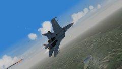 Su-27 Flanker on Strike Mission Jumped Over Hokkaido