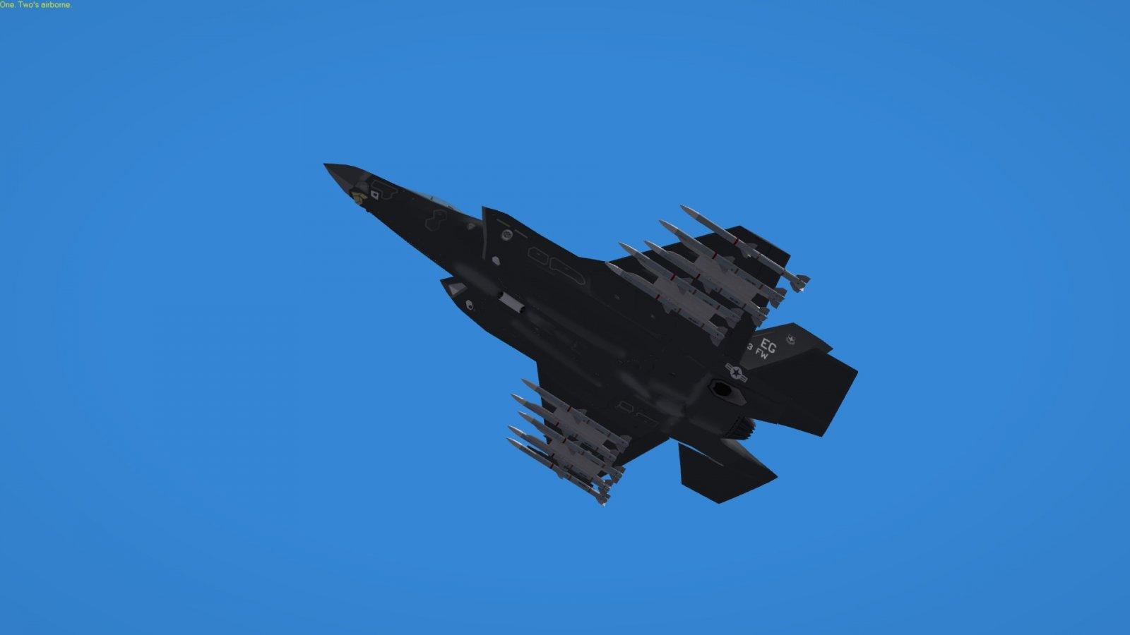 F-35 Lightning II Combat Air Patrol FULL AMRAAM