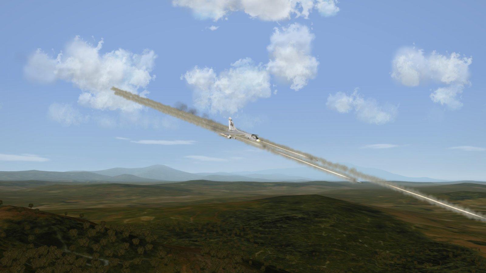 A-7E LAU-3A Rocket Pod Fire SEAD