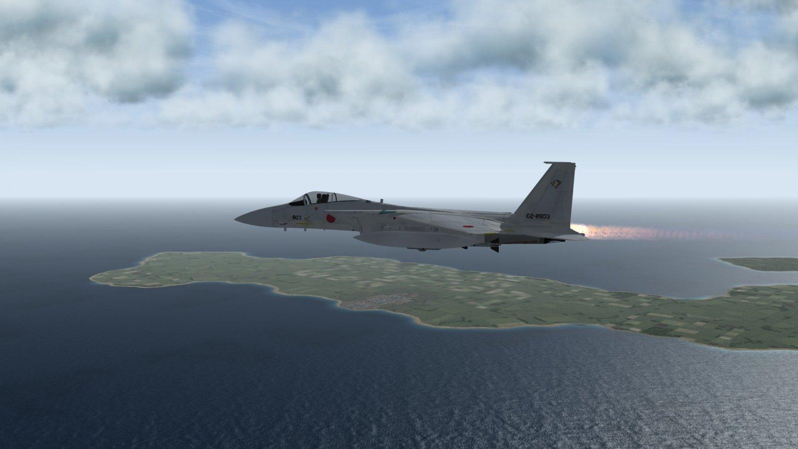 F-15J in Afterburner on Intercept