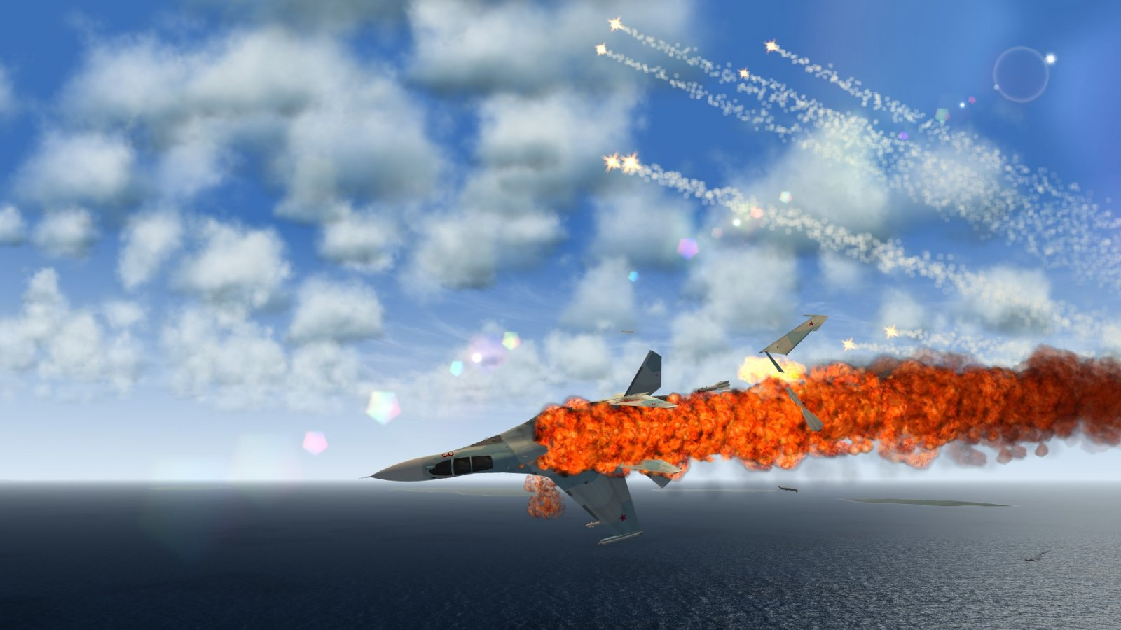 I guess the flares didn't work for the Su-30...