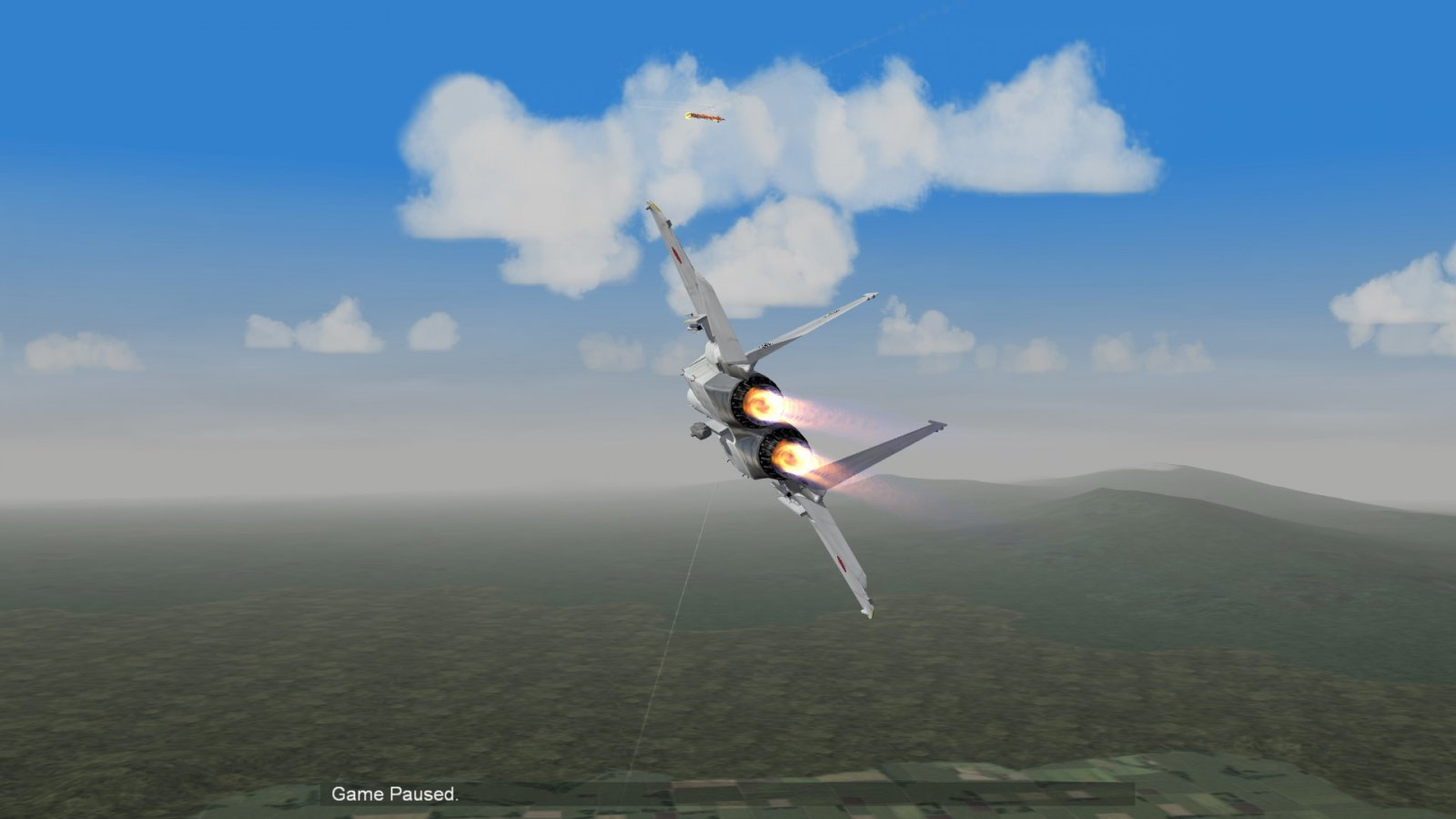 F-15J Making A Tail Intercept