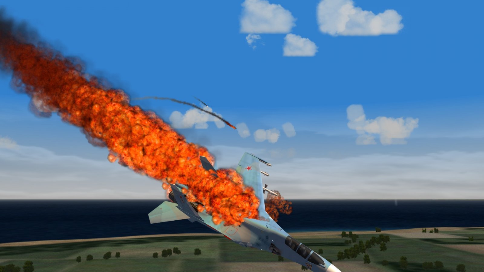 Flankers Burning & Crashing