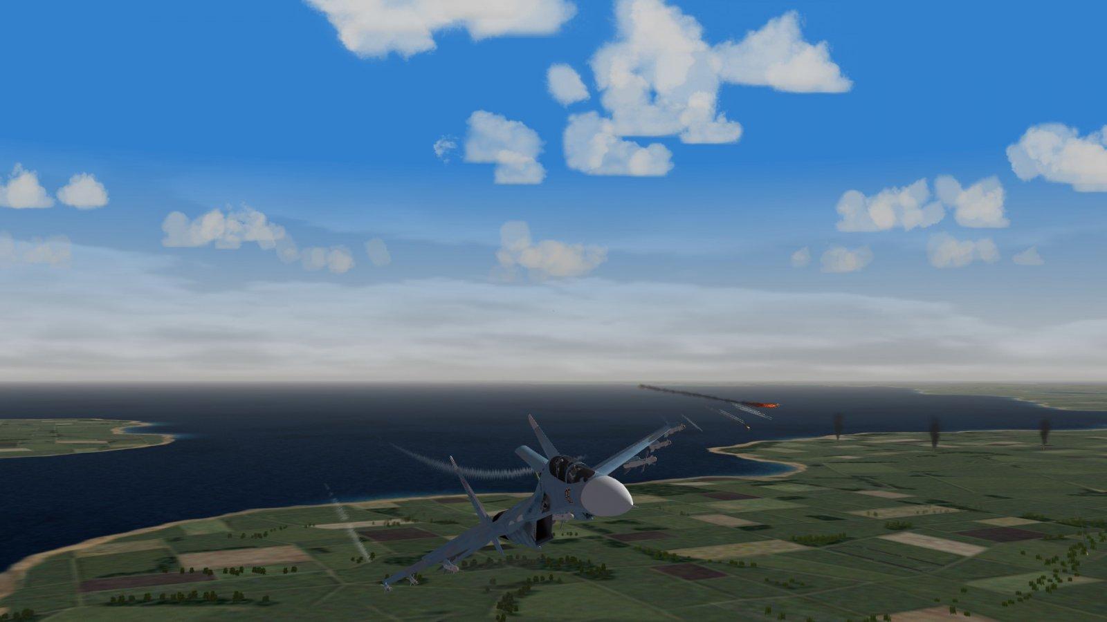 Su-30 Evading Intercept 1