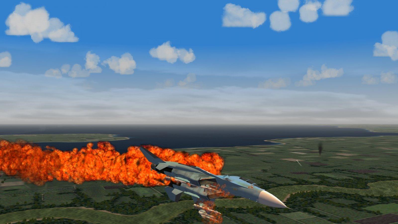 Tumbling Burning Flanker 2