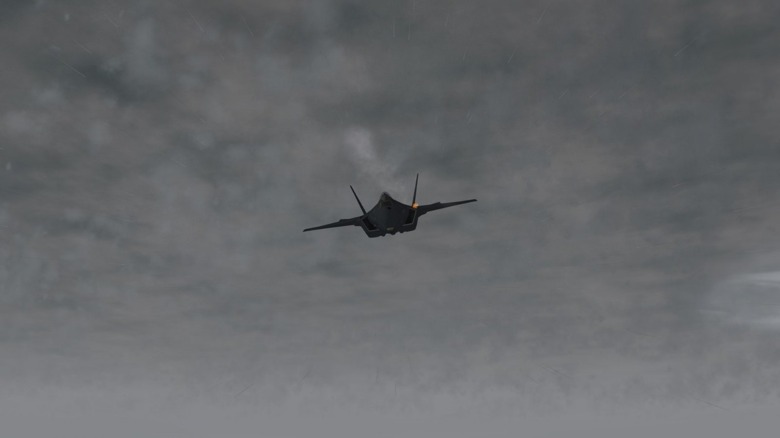 F-35A Strafing Out of the Clouds