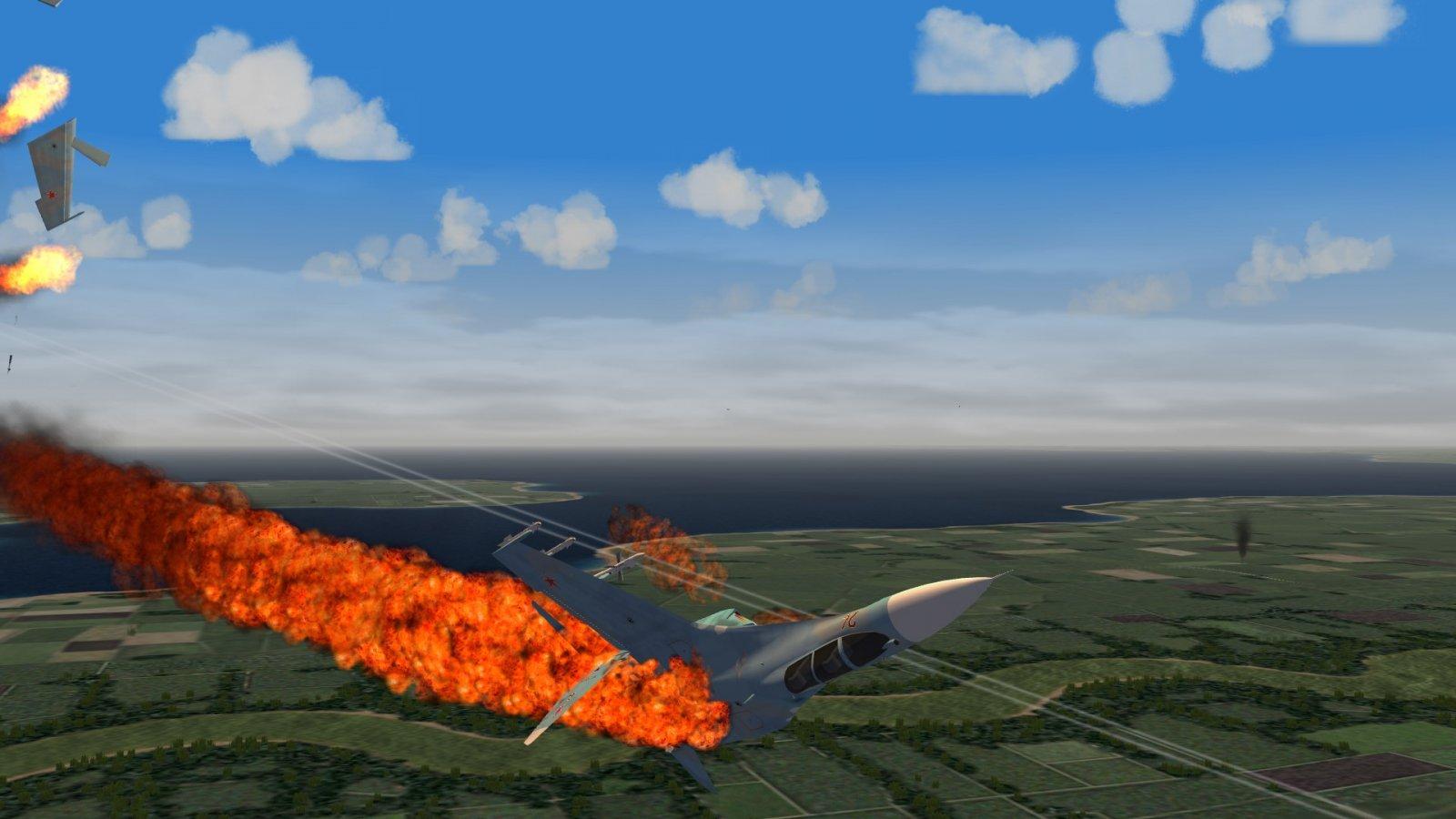 Tumbling Burning Flanker 1