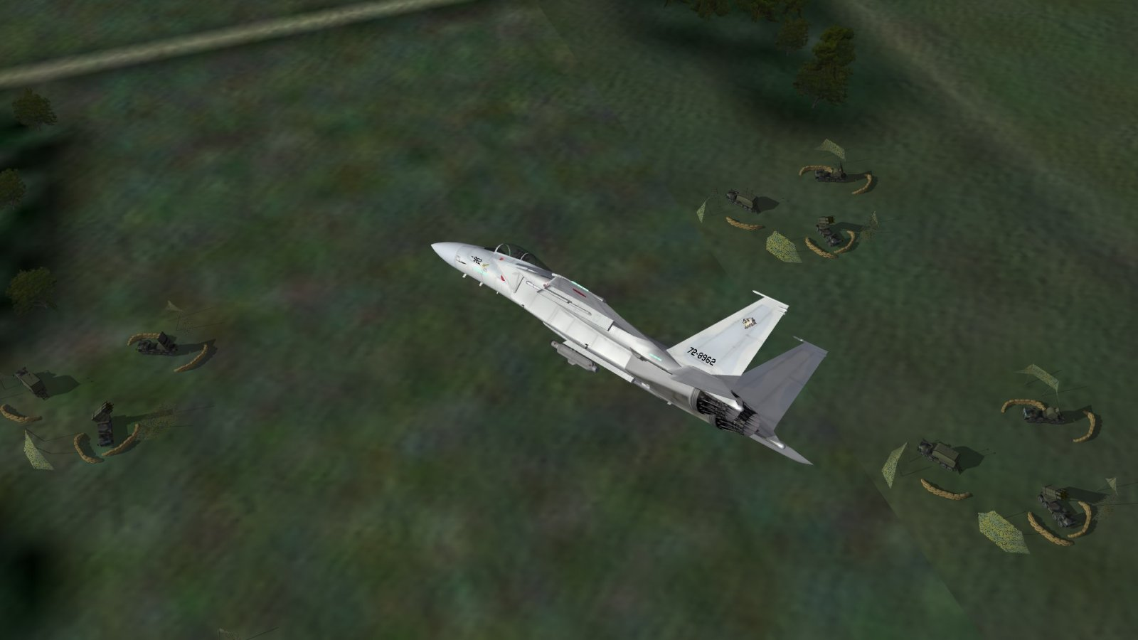 Overflying the Patriot Site of Mission 1