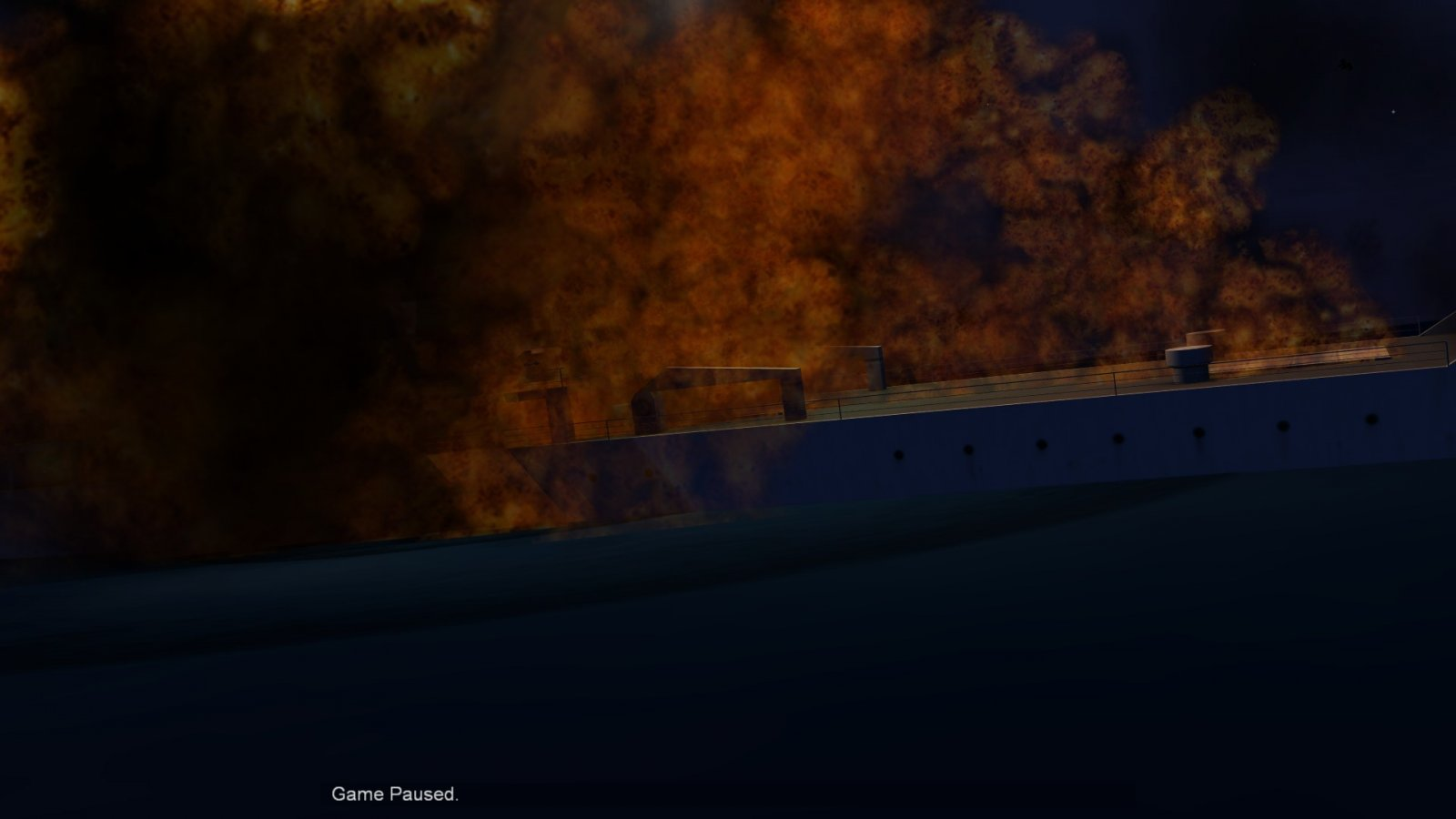 BURNING RO-RO VESSEL