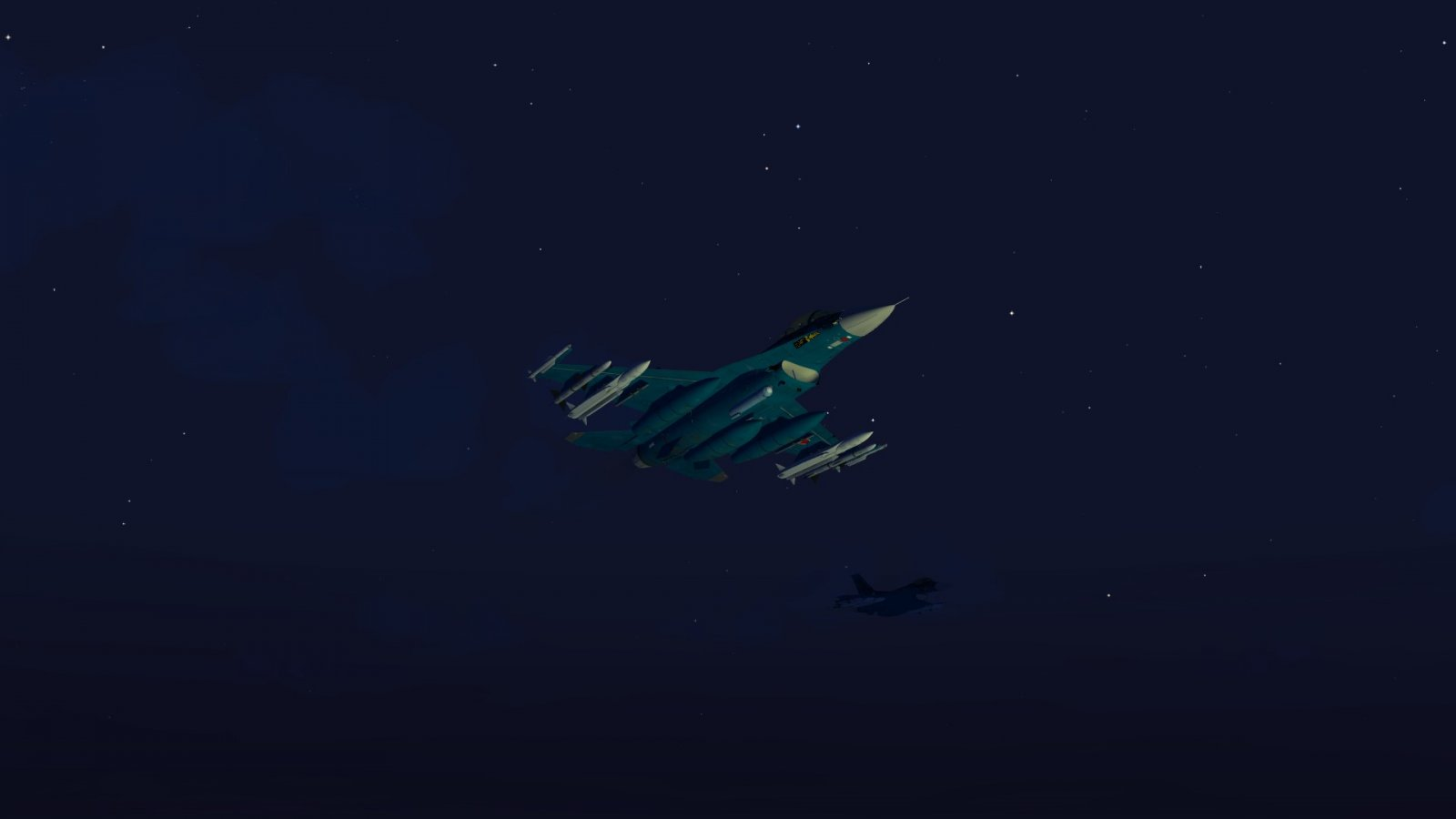 F-2A Lit Up by ASM-3 Launch 1