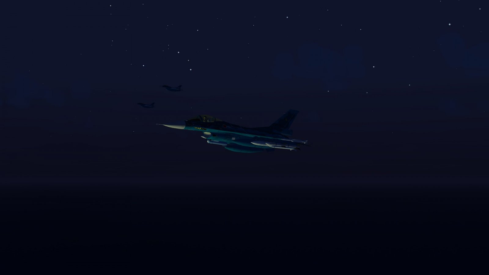 F-2A Lit Up by ASM-3 Launch 2