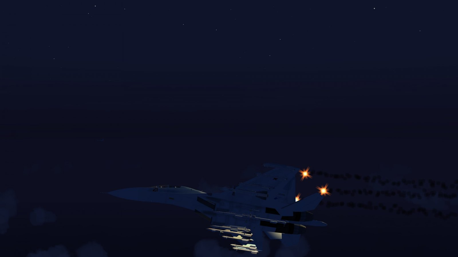 Su-30 Putting Out Flares