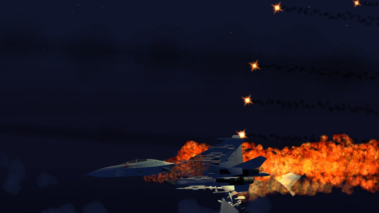 Guess those flares didn't work for the Su-30