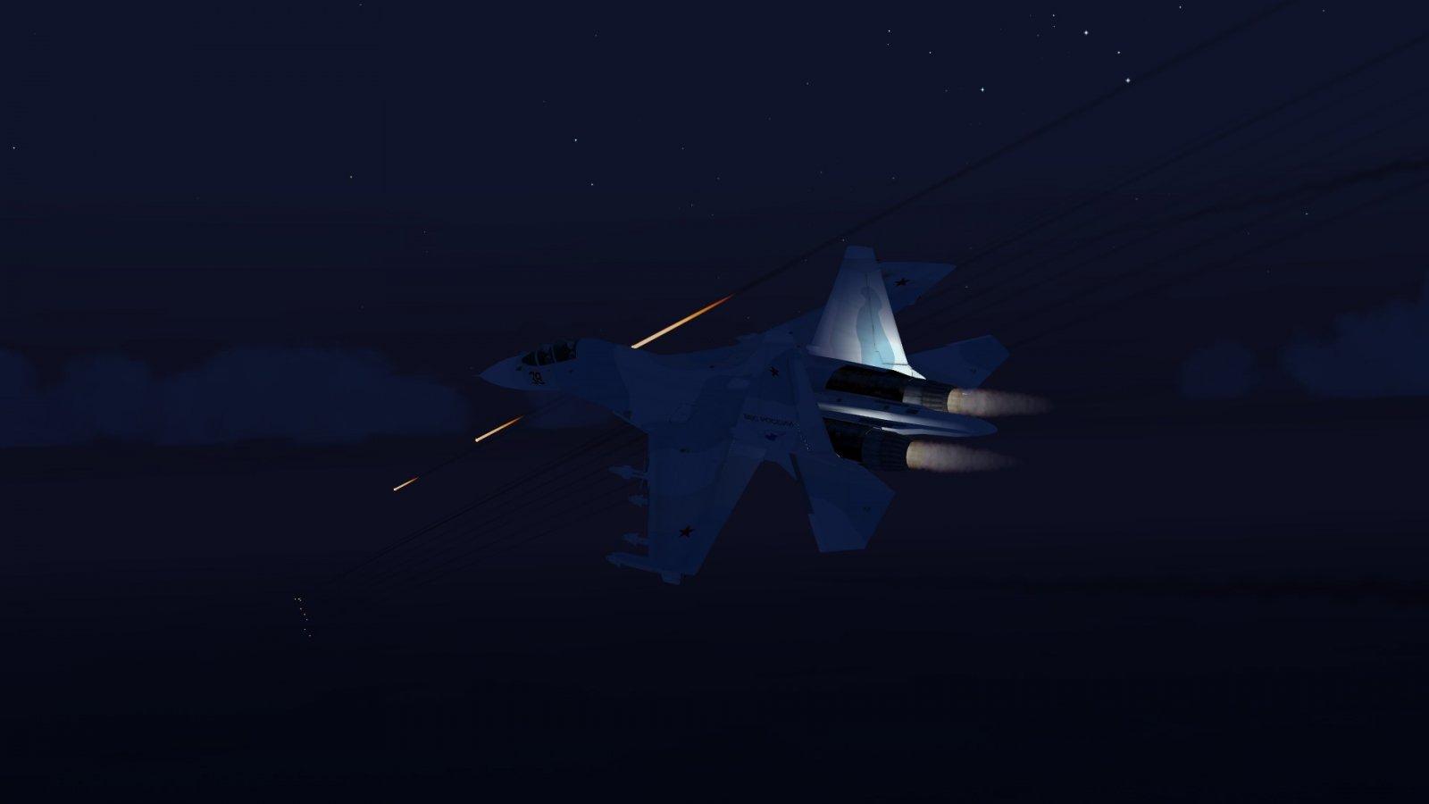 Breaking Left From F-15J Bullets
