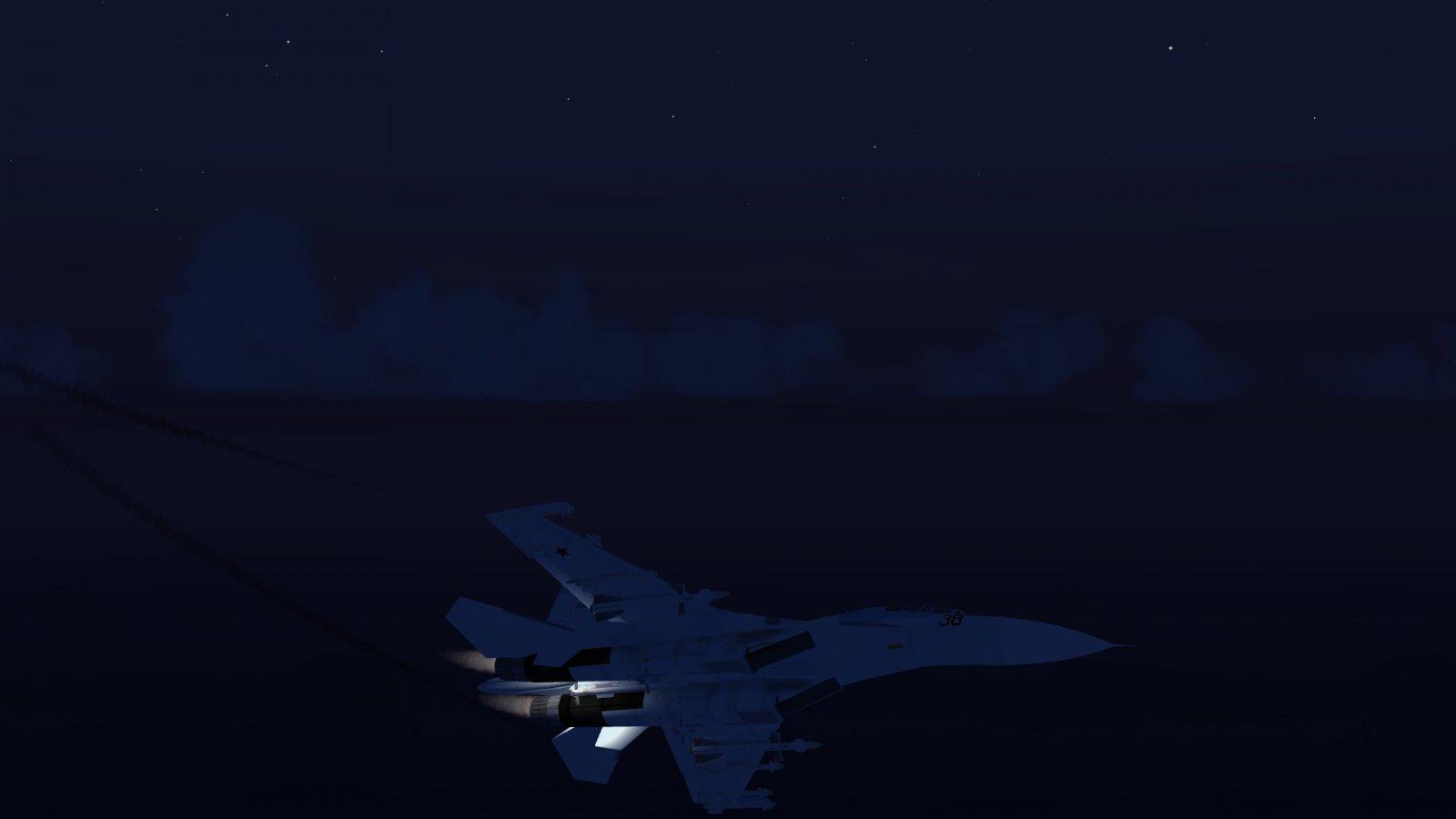 Evading Su-30