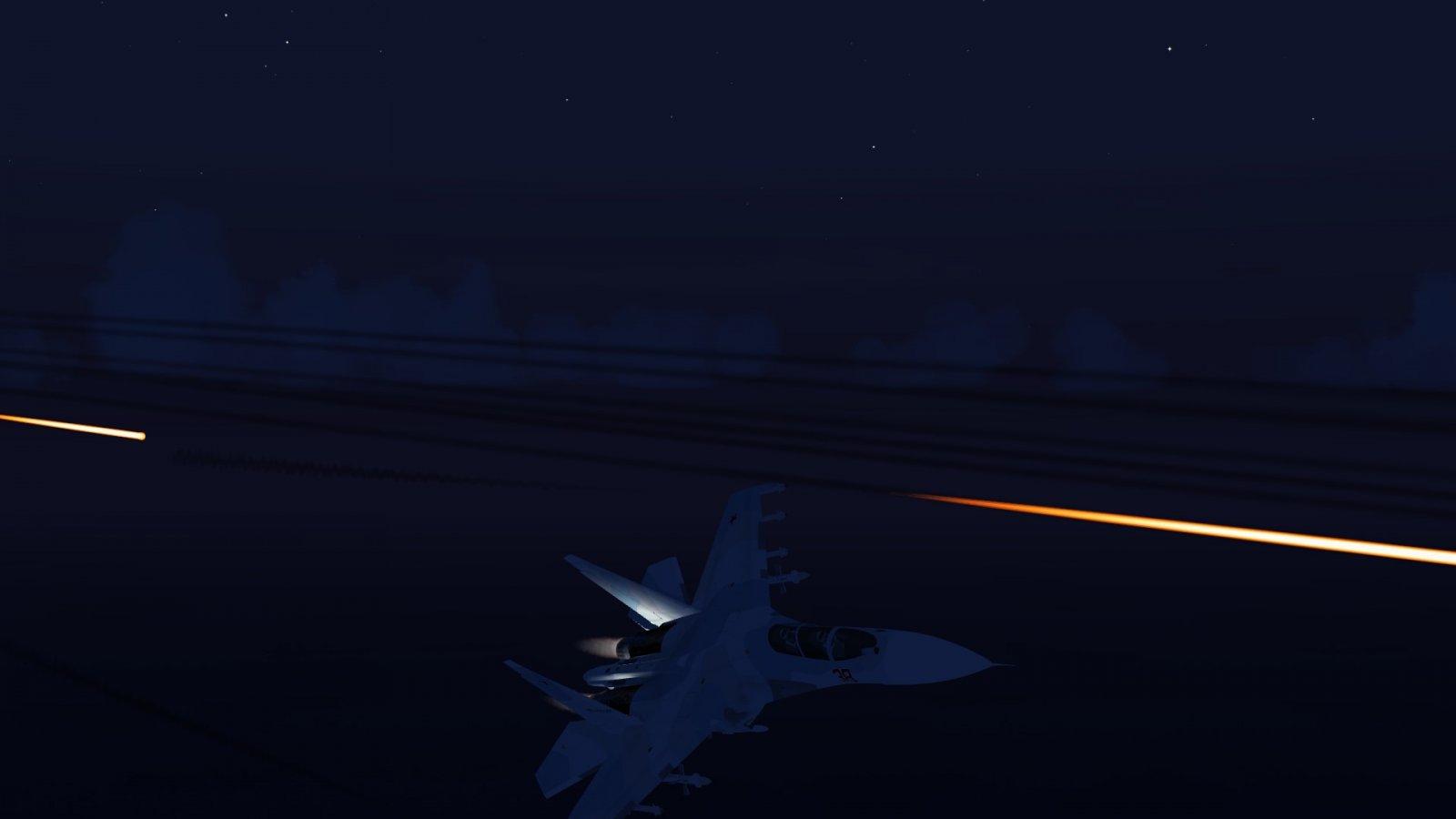 Su-30 Evading F-15J Bullets