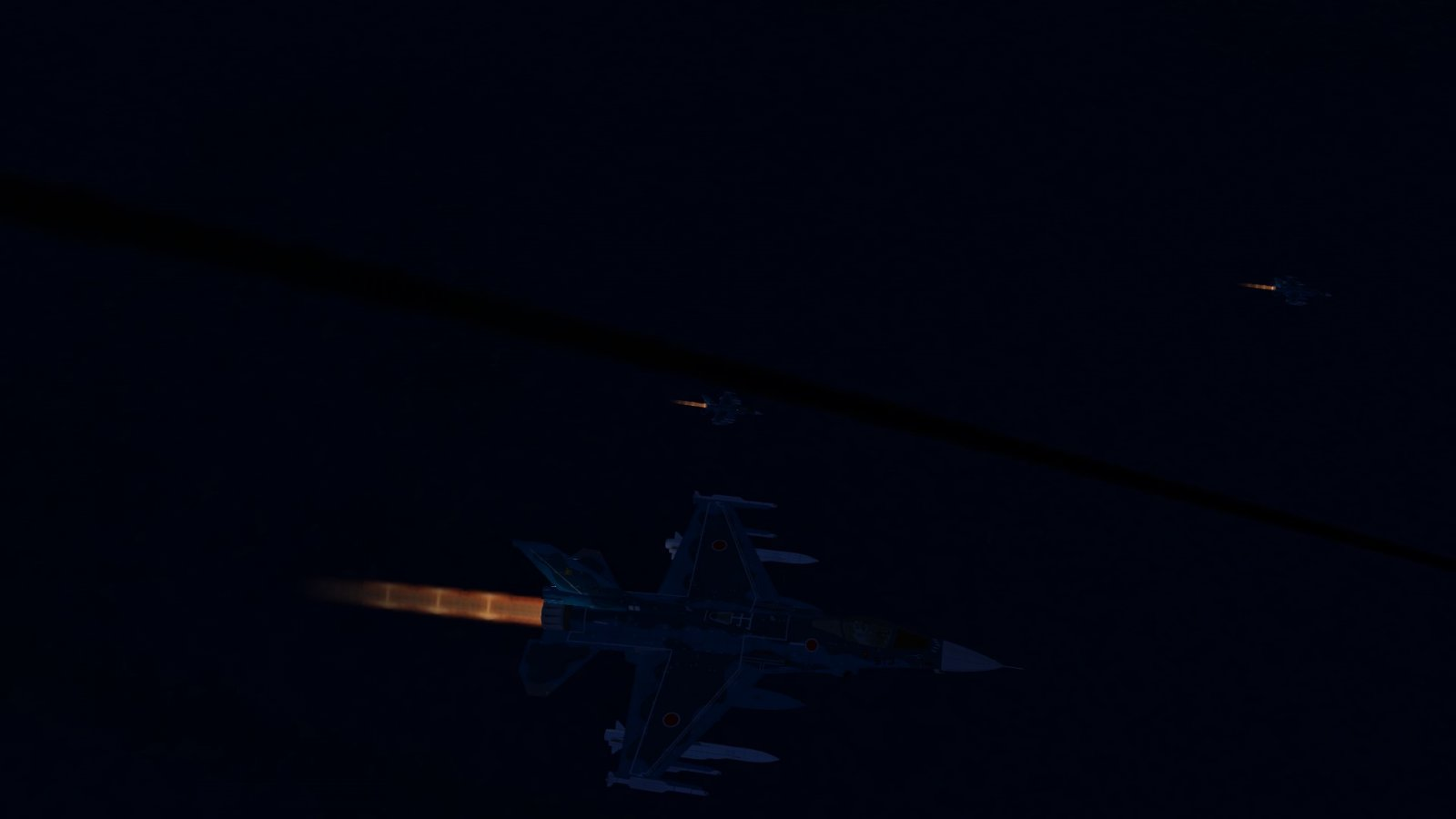 F-2As in Afterburner Launching Anti-Ship Missile 3s