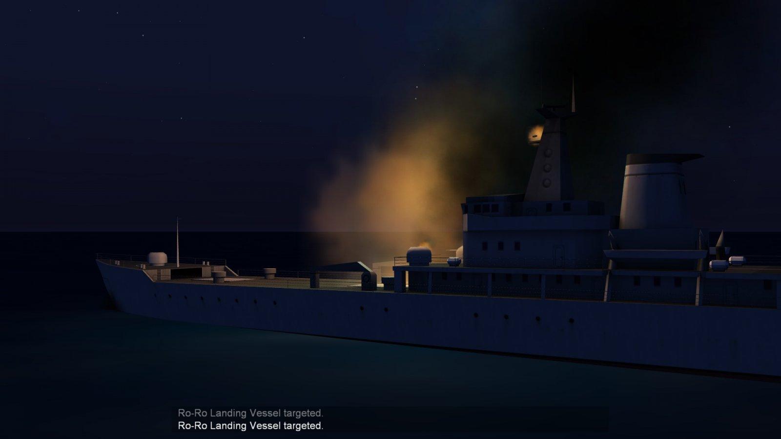 Burning Warship