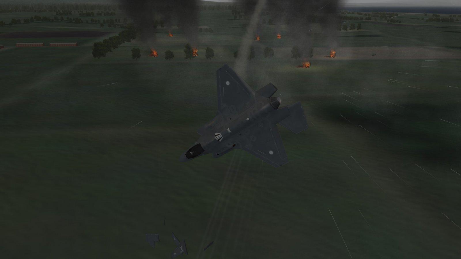 Tumbling F-35A