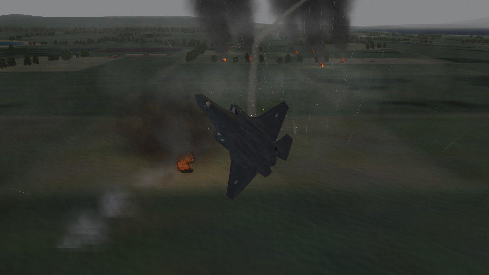 Broken F-35A Passing 2S6 It Strafed