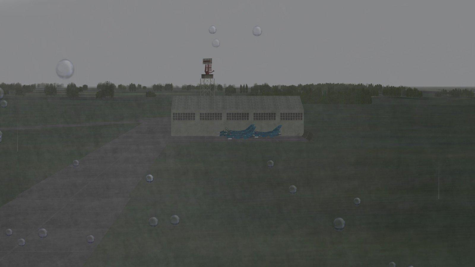 F-2As by a Hangar