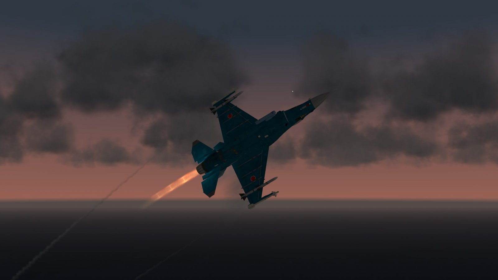 F-2A in Sunset & Afterburner