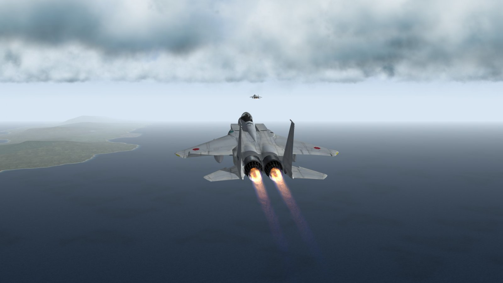 F-15Js Racing to Save the Civilian Freighters