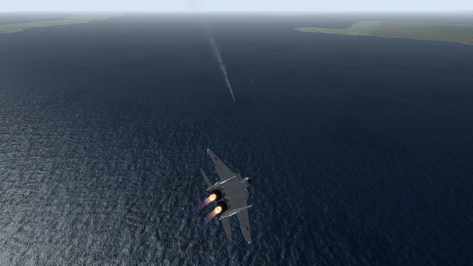 F-15J Firing A Missile & Breaking Away